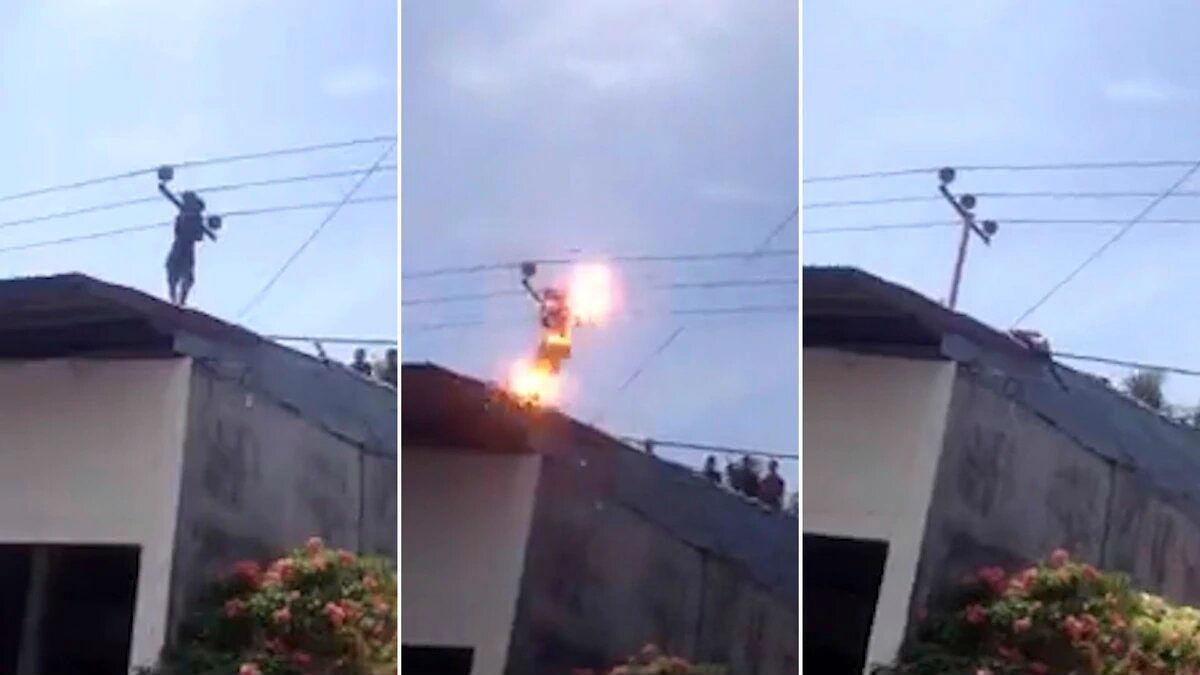 suicidio electrocutado